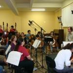 10 - Gravando Comercial para o Cinema com a Camerata Fpolis, em Julho, 2008  na Escola da Orquestra