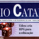 13A - Alécio na capa do Jornal Diário Catarinense!